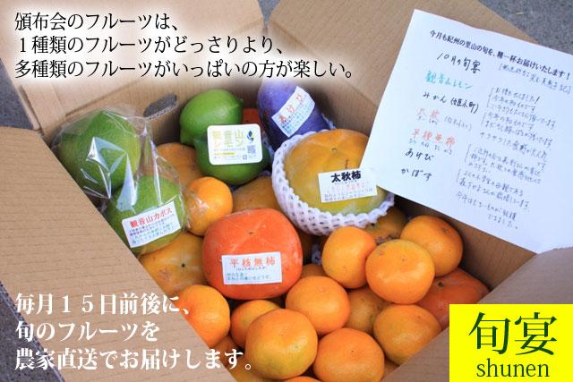 フルーツセット頒布会 毎月10日前後に、フルーツの詰合せを農家から直送します!